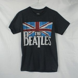 Other - The Beatles | Grey British Flag Graphic Tee - S